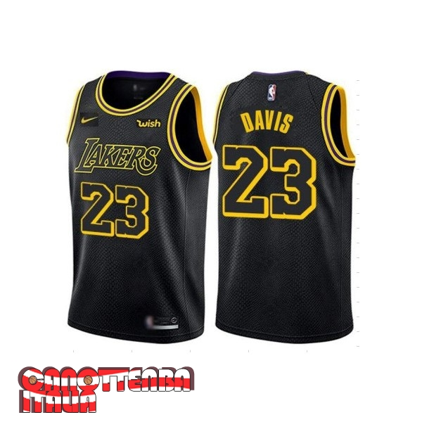Maglia NBA Nike Los Angeles Lakers NO.23 Anthony Davis Nero Città 2019-20 Economico