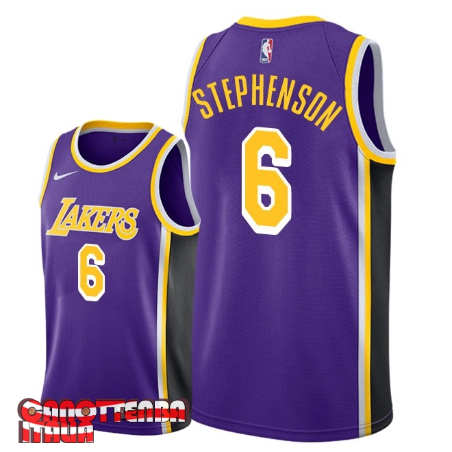 Maglia NBA Nike Los Angeles Lakers NO.6 Lance Stephenson Porpora Statement 2018-19 Economico