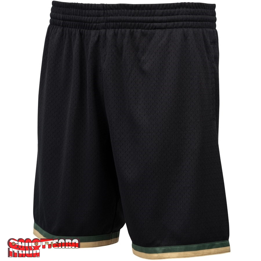 Pantaloni Basket Houston Rockets Nero Hardwood Classics Economico