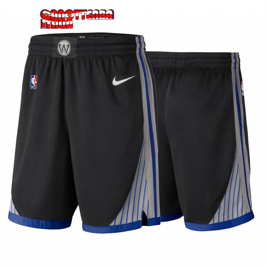 Pantaloni Basket Golden State Warriors Nike Nero Città 2019-20 Economico