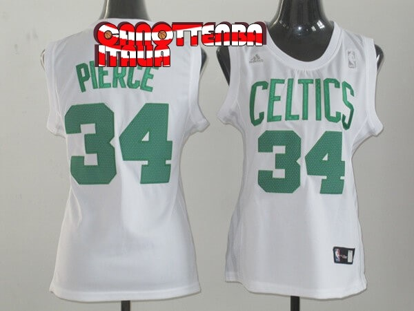Maglia NBA Donna Boston Celtics NO.34 Paul Pierce Bianco Economico