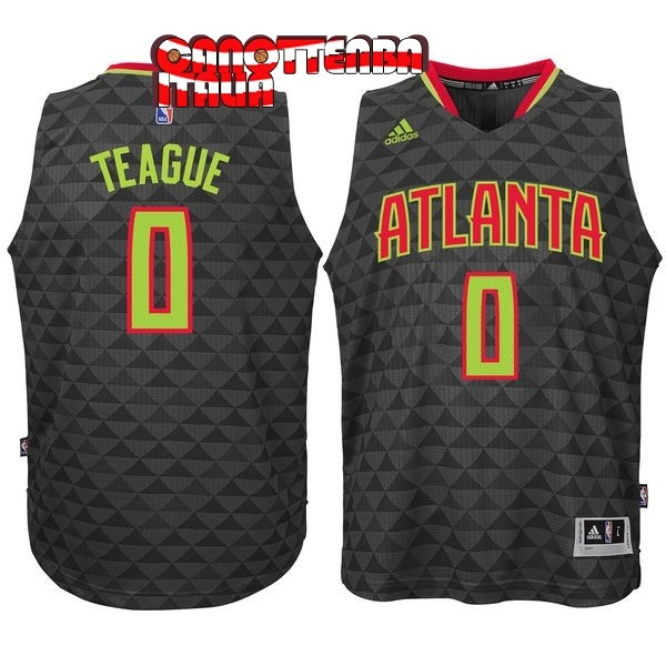 Maglia NBA Atlanta Hawks No.0 Jeff Teague Nero Economico